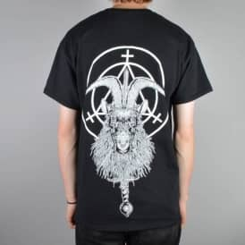Witchcraft Goat Witch Skate T-Shirt - Black