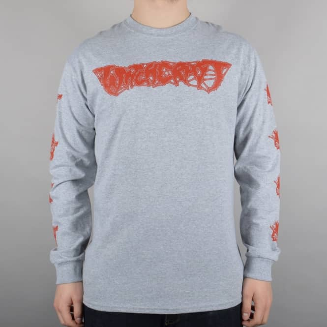 Witchcraft Hardware Axe Reaper Longsleeve T-Shirt - Heather Grey