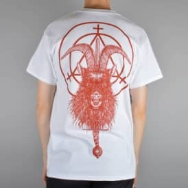 Witchcraft Hardware Goatwitch Skate T-Shirt - White/Red