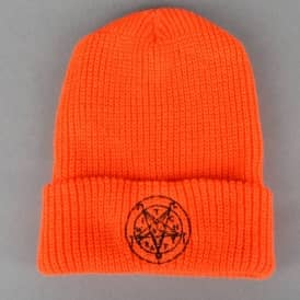 Satan Halloween Beanie - Orange/Black