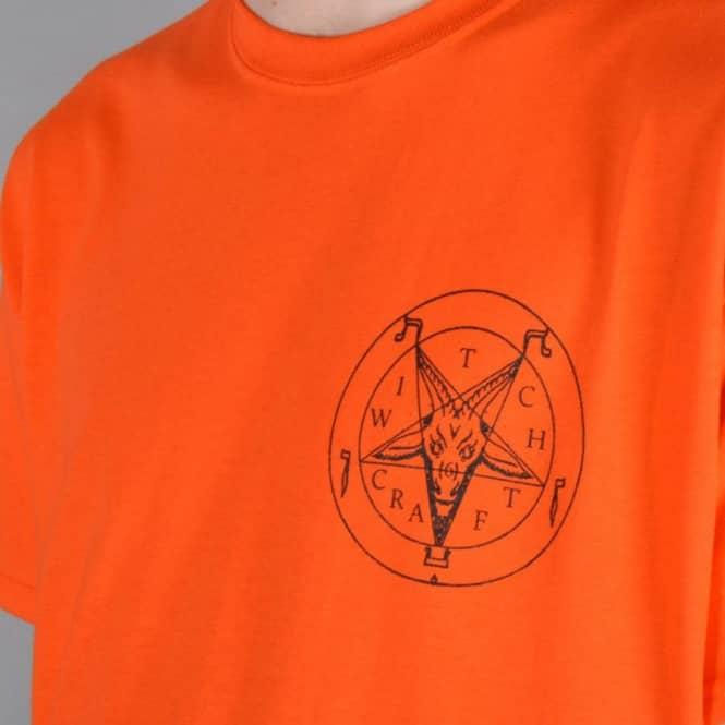 e2d2ad8c4874 Witchcraft Hardware Satan Halloween Orange/Black Skate T-Shirt ...