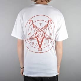 Witchcraft Hardware Satan Skate T-Shirt - White/Red
