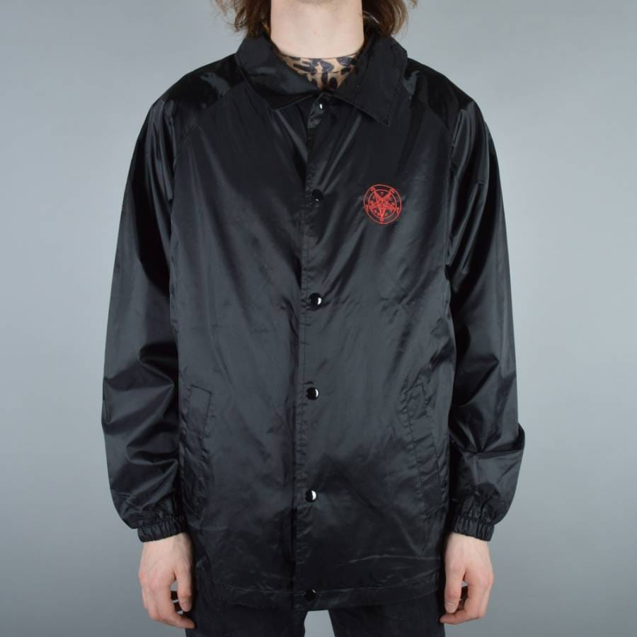 Witchcraft hardware satanic blood embroidered coach jacket for Coach jacket