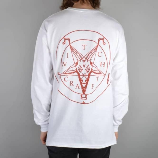 4e22ce789da9 Witchcraft Hardware Satanic Blood Long Sleeve T-Shirt - White ...