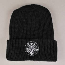 Witchcraft Satan Fold Up Beanie - Black