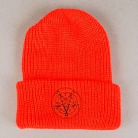 Witchcraft Satan Fold Up Beanie - Gillligan Orange