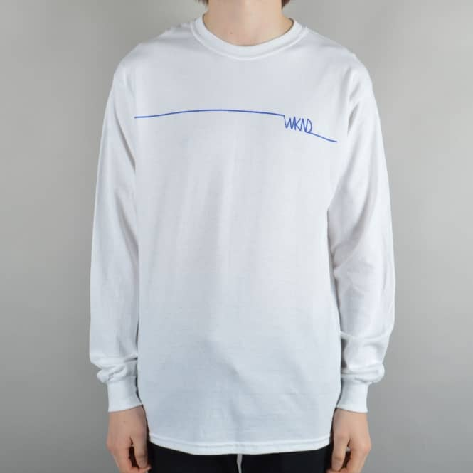 WKND Skateboards Long Line Longsleeve T-Shirt - White