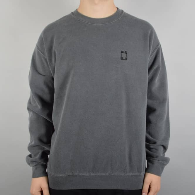 WKND Skateboards Overdyed Crewneck Sweater - Faded Black