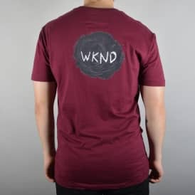 Sketch Ball Skate T-Shirt - Wine