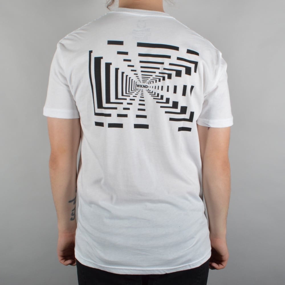 WKND Skateboards Tunnel Vision Skate T-Shirt - White ...