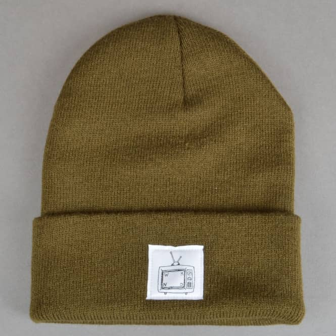 WKND Skateboards TV Cuff Beanie - Olive