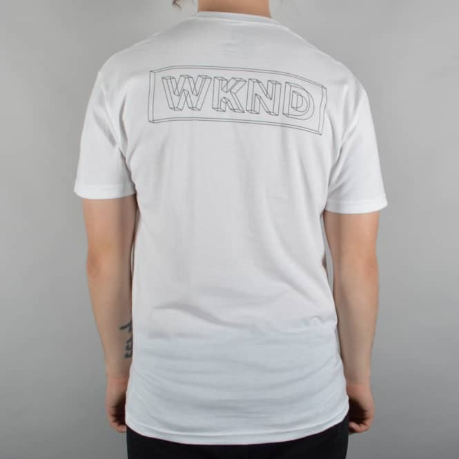 WKND Skateboards Wire Frame Skate T-Shirt - White