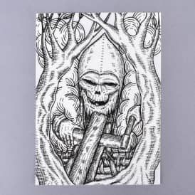 Woodsman Skateboard Sticker - 5