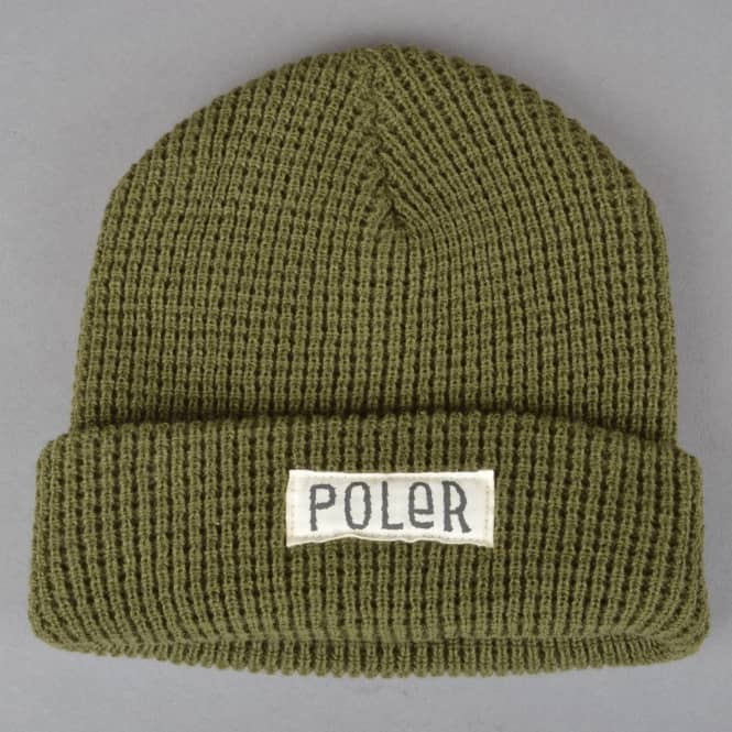 9767ce82d44 Poler Stuff Workerman Beanie - Olive - SKATE CLOTHING from Native ...