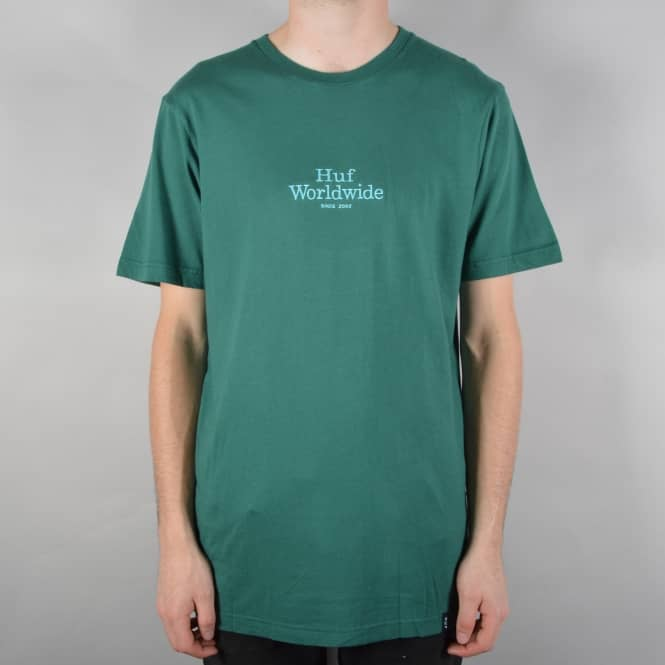 HUF Worldwide Overdye T-Shirt - Jade Green