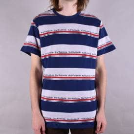 Worldwide Stripe Knitted T-Shirt - Twilight Blue