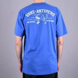52b8ffa869f X Antihero On The Wire Skate T-Shirt - Royal Blue