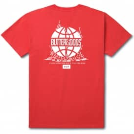x Butter Goods Feels Like Home T-Shirt - Red