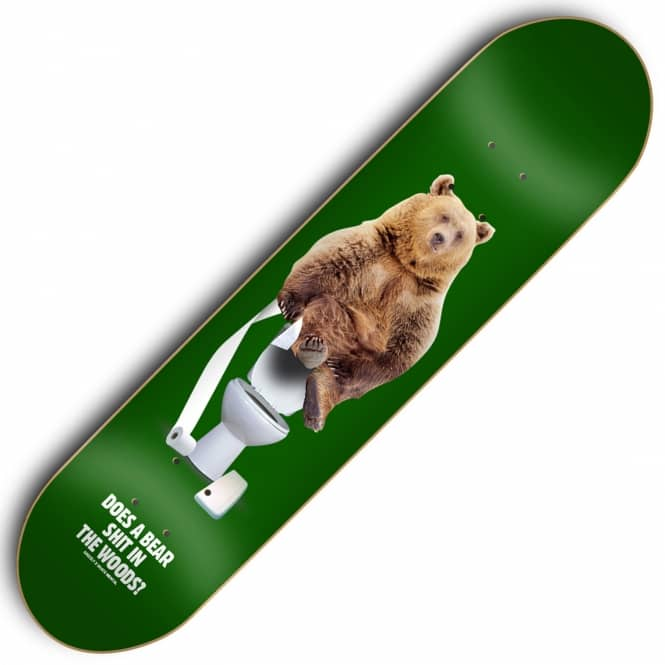 Skate Mental x Grizzly Upper Decker Skateboard Deck 8.125