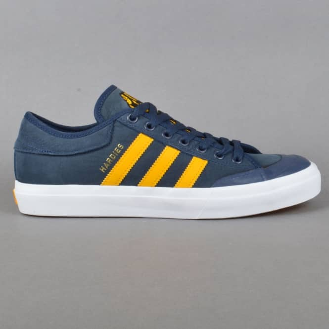 Adidas Skateboarding X Hardies Hardwear Matchcourt Skate Shoes - Collegiate Navy/Customized/Footwear White