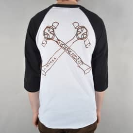 x Jason Jessee Man Club 3/4 Length Raglan T-Shirt - White/Black