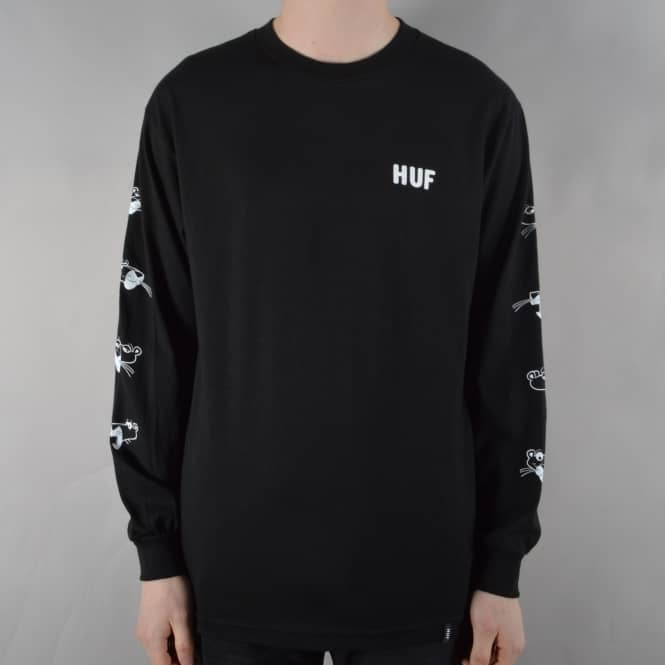 HUF x Pink Panther Heads Longsleeve T-Shirt - Black