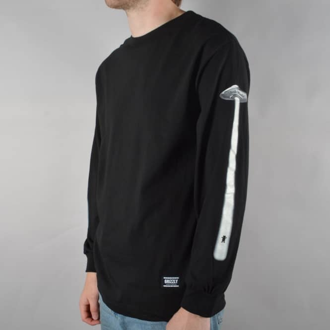 Grizzly Griptape x Skate Mental Abduction Long Sleeve Skate T-Shirt - Black