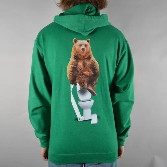 Grizzly Griptape x Skate Mental Upper Decker Pullover Hoodie - Green