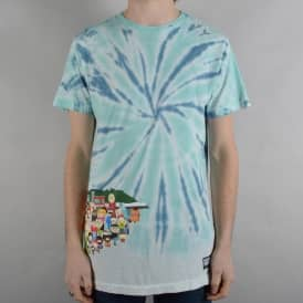 x South Park Opening T-Shirt - Blue Tie Dye