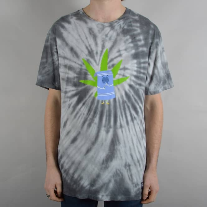 HUF x South Park Towelie Tie Dye T-Shirt - Black