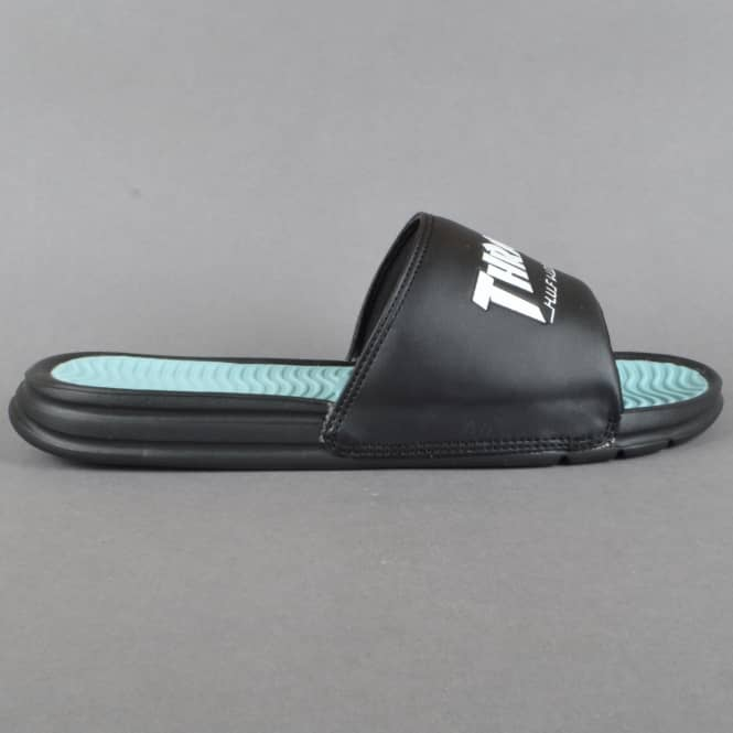 HUF x Thrasher TDS Slide Flip Flops - Black/Mint