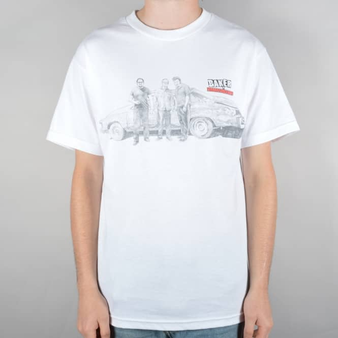 Baker Skateboards x Trailer Park Boys Skate T-Shirt - White