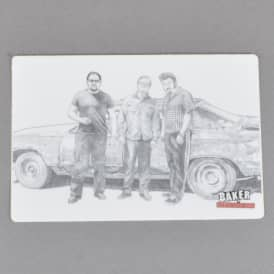 x Trailer Park Boys Sketch Skateboard Sticker - White