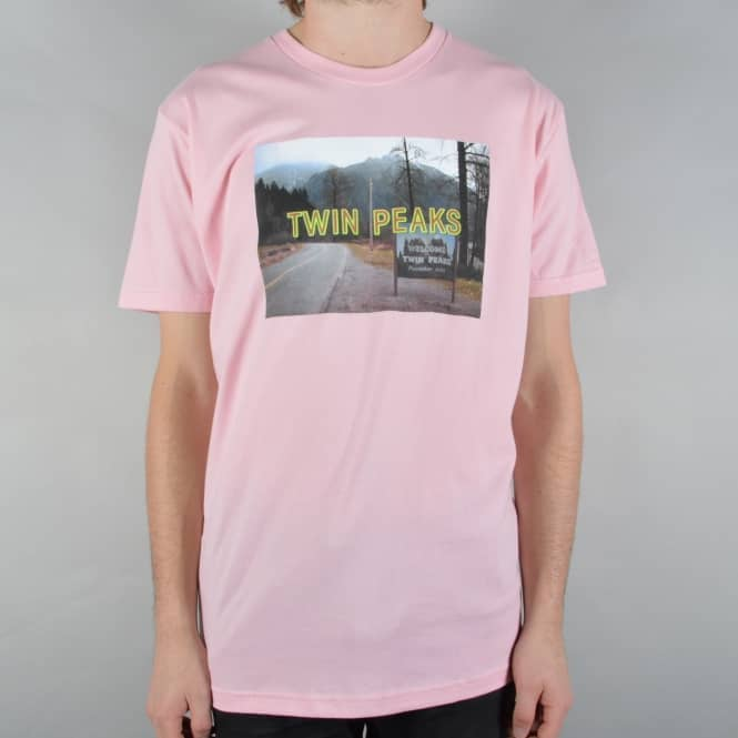 Habitat Skateboards x Twin Peaks Opening Title T-Shirt - Light Pink