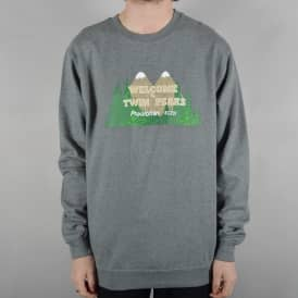 x Twin Peaks Welcome To Twin Peaks Crewneck Sweater - Heather Grey