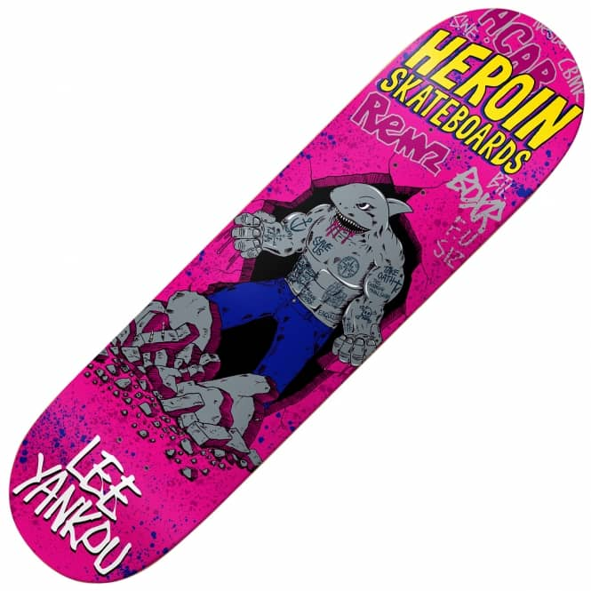 Heroin Skateboards Yankou Shark Skateboard Deck 8.38