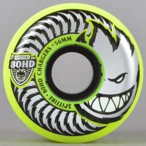 Spitfire Wheels Yellow 80HD Chargers Conical Skateboard Wheels 56mm