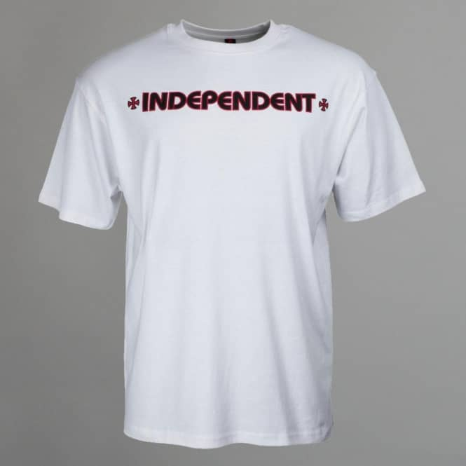 Independent Trucks Youth Bar Cross Skate T-Shirt - White