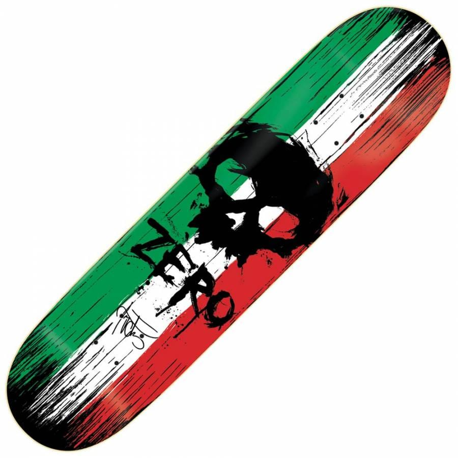 Zero skateboards zero cervantes war paint skateboard deck for Best paint for skateboard decks