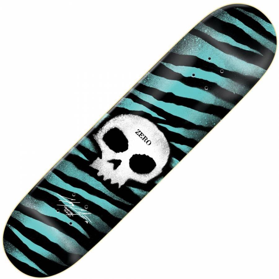 Zero Skateboards Zero Chris Cole Stencil Skull Skateboard ...