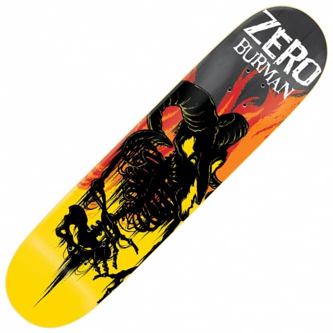 Zero Skateboards Burman From Hell Impact Light Skateboard Deck 8.25