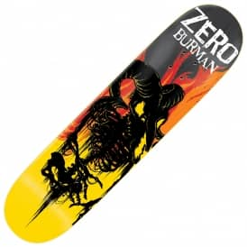Zero Skateboards Burman From Hell Impact Light Skateboard Deck 8.25""