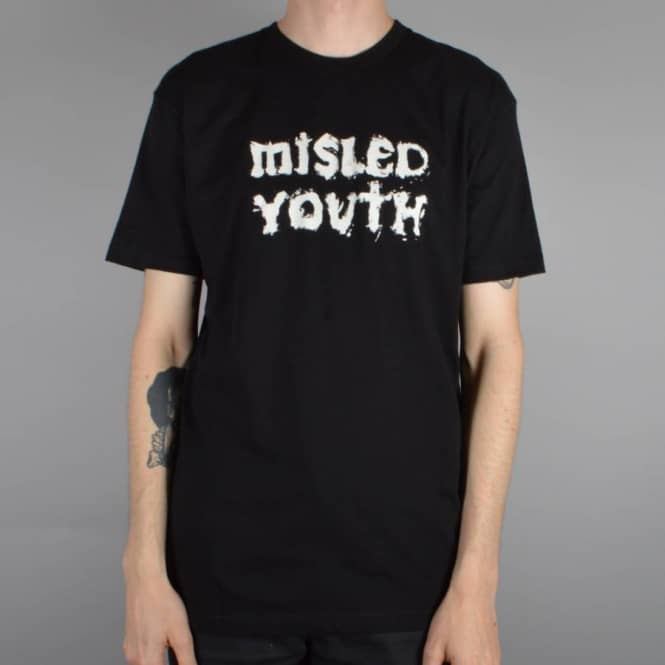 Zero Skateboards Misled Youth Skate T-Shirt - Black