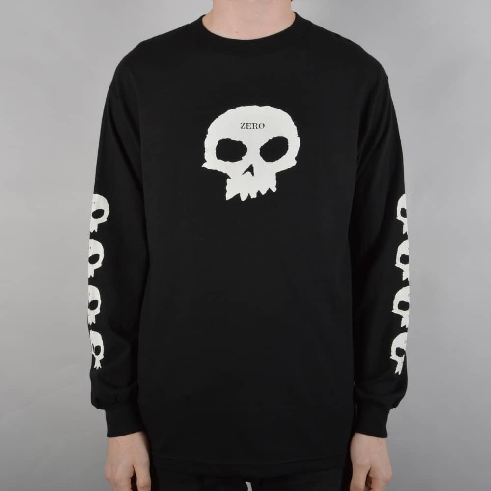 7c603dd91755 Zero Skateboards Multi Skull Longsleeve T-Shirt - Black - SKATE ...