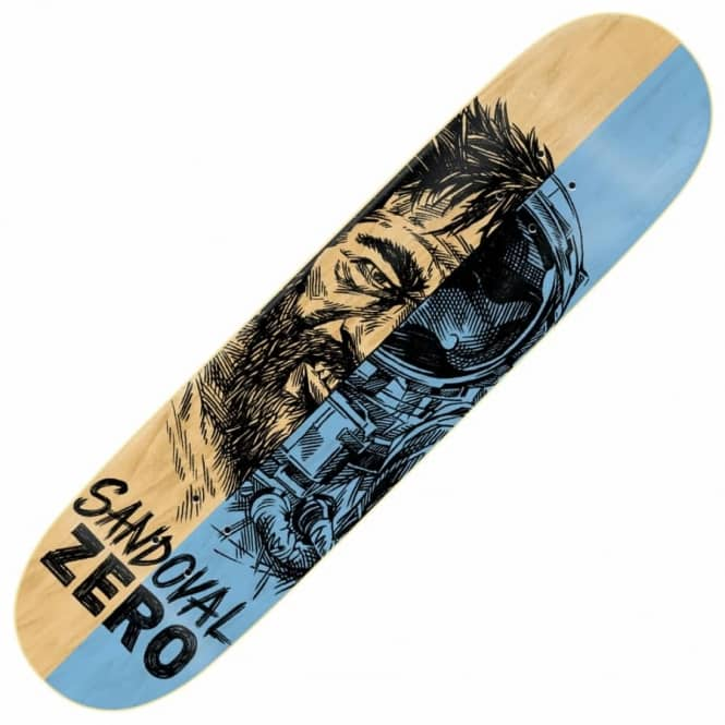 Zero Skateboards Sandoval Alter Ego Skateboard Deck 8.25""
