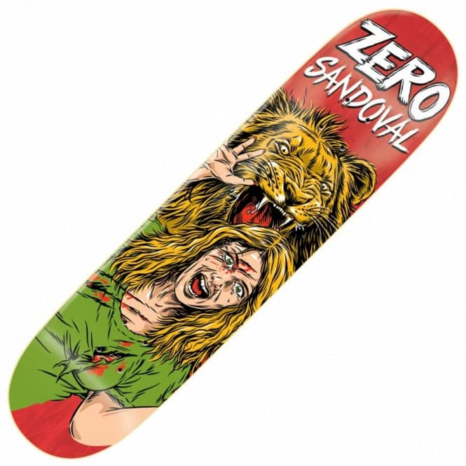 Zero Skateboards Sandoval Animal Attack Impact Light Skateboard Deck 8.0