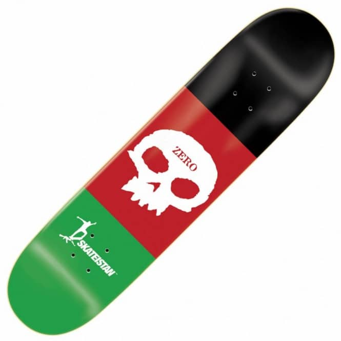 Zero Skateboards Skateistan Single Skull Skateboard Deck 8.375