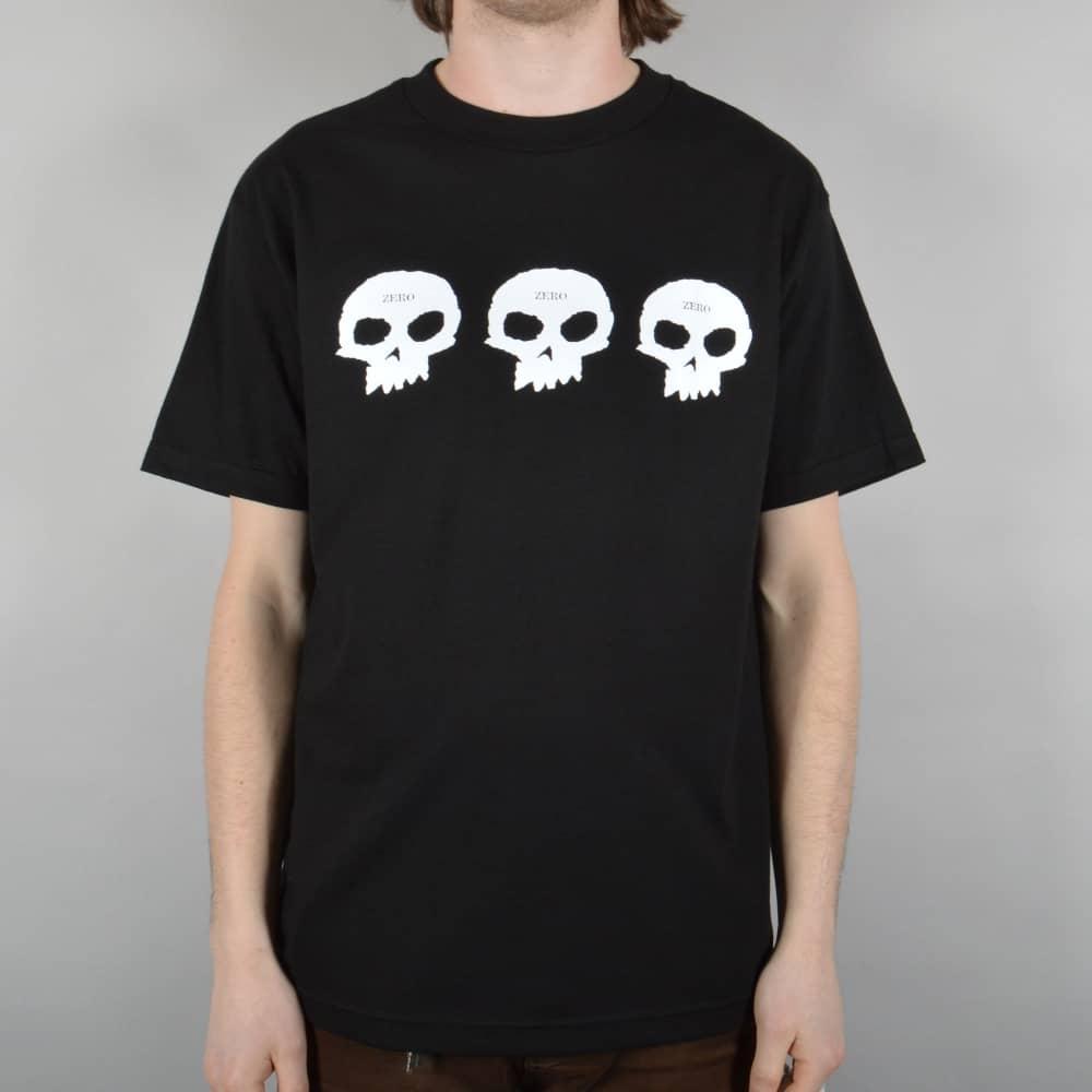 9c8267e3782f Zero Skateboards Three Skulls Skate T-Shirt - Black - SKATE CLOTHING ...