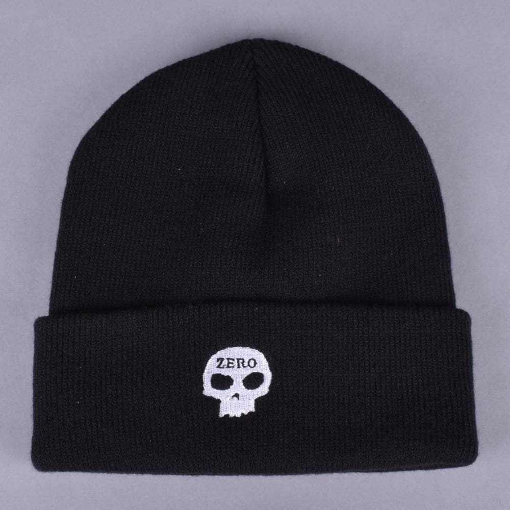 8c7127be0922cb Zero Skateboards Zero Skull Beanie Black - SKATE CLOTHING from ...