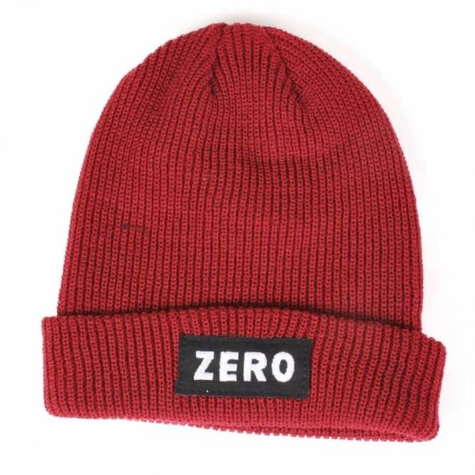 Zero Skateboards Zero Watch Cap Skate Beanie - Burgundy - Beanies ... 55d5674f465